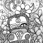 Trippy Bug Zentangle by MysticDragonfly