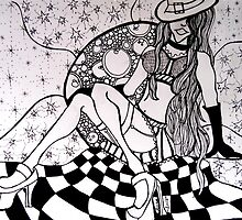 Moon Minx Zentangle by MysticDragonfly