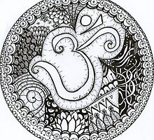 Om Zentangle Mandala by MysticDragonfly