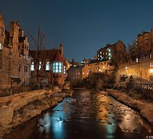 Dean Village at Night by Steve Jensen