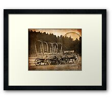 Camp here. Custer did! Framed Print