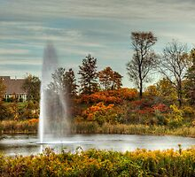 Fountain in the Fall by Scott Wood