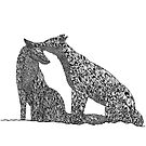 Patterned Foxes by samclaire