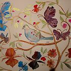 BIRD IN FLOWERS 7 by Gea Austen