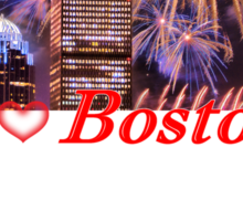 Happy Fourth of July from Boston, MA Sticker
