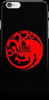 Game of Thrones - Targaryen house by blackstarshop