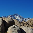 Rocks and highest Sierra Nevada peaks, California by Claudio Del Luongo