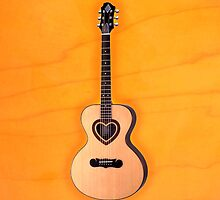 Acoustic Guitar heart v1 iphone case by goodmusic