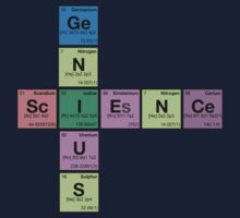 SCIENCE GENIUS! Periodic Elements Scrabble Kids Clothes