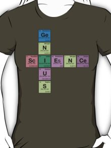 SCIENCE GENIUS! Periodic Elements Scrabble T-Shirt
