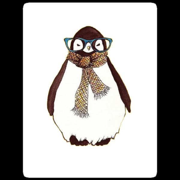 cute fluffy penguin by jackwatson2109