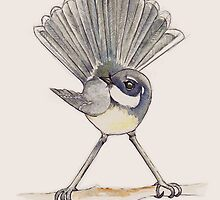Grey Fantail in sepia tones by TwoShoes