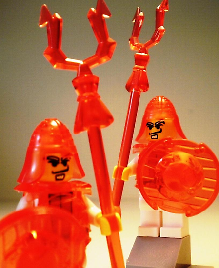 Ching Dynasty Chinese Warrior Custom LEGO® Minifigure with Trans Orange Armour, by 'Customize My Minifig' by Chillee