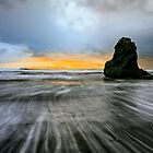Stormy beach sunset by Lubos Bruha