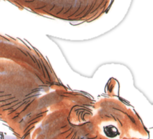 Holiday Critters - Squirrel Sticker