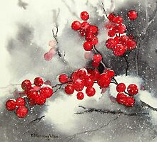 Red Berries,White Snow by artbyrachel