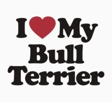 I Love My Bull Terrier			 by iheart