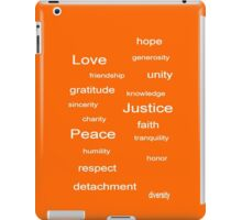Love Peace Justice - Tangerine iPad Case/Skin