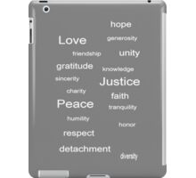 Love Peace Justice - Gray iPad Case/Skin