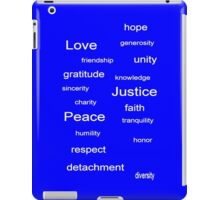 Love Peace Justice - Azure iPad Case/Skin