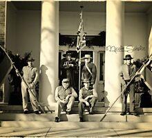 Confederate reenactors by Nicole  Scholz