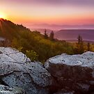 Rosy Dawn over Allegheny Mountains by Deb Snelson