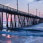 Sunrise at Rodanthe Pier by Deb Snelson