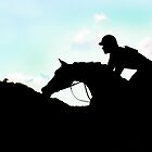 Jockey Silhouette  by heatherfriedman