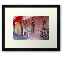 Chinatown Mural Framed Print