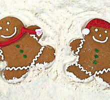 Gingerbread Cookie Couple by Maria Dryfhout