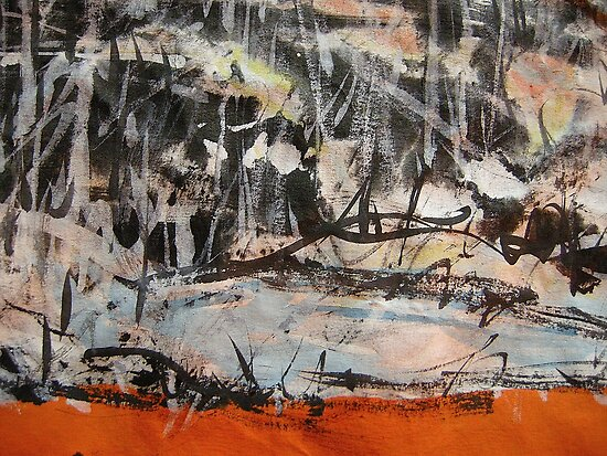 a brook side close up by banrai