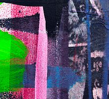 Cool graffiti grunge style details in pink green red and blue by campyphotos