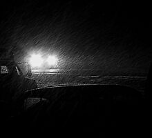 Just Now...12-15-2012...11:00 P.M...Snowfall at the stop sign by trueblvr