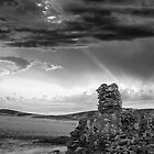 Ruins against a complex sky by eSWAGMAN