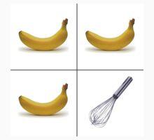 Three bananas and a whisk by Santa73