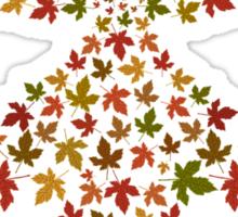 Christmas leaf tree Sticker