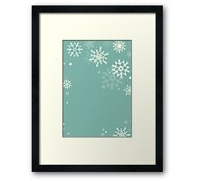 Retro simple Christmas card with snowflakes Framed Print
