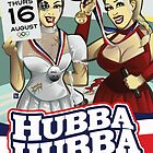 Poster for Hubba Hubba Revue, August 2012 by caseycastille