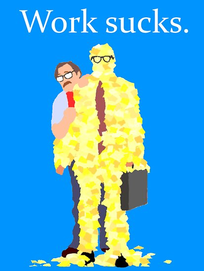 Minimalist movie poster: Office Space by macliam