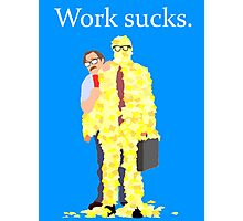 Minimalist movie poster: Office Space Photographic Print