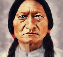 Sitting Bull i-Pad Case by ipadjohn