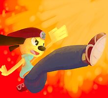 Jump Kick Chop! by yellowcoatrobot