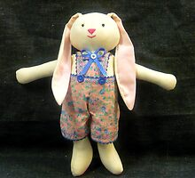 Hugs, the Ragdoll Bunny by Vivian Eagleson