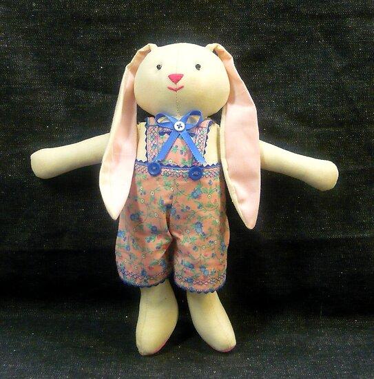 Hugs, the Ragdoll Bunny by Vivian Eagleson