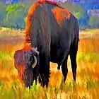 Painted Buffalo iPad Case by ipadjohn