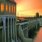 Sunset On The Dam iPad Case by ipadjohn