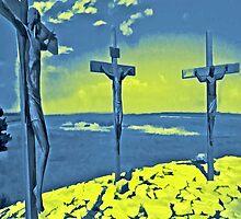 The Three Crosses iPad Case by ipadjohn
