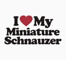 I Love My Miniature Schnauzer	 by iheart