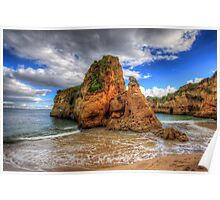 Red Sandstone Stack Lagos Poster