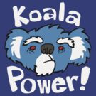 Koala - eucalyptus power - blue and white by DiabolickalPLAN